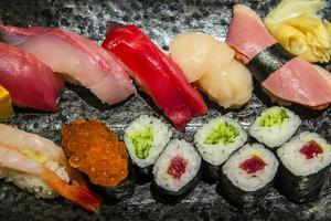 Mix Sushi Plate, Kyoto, Japan by Stefano Politi Markovina