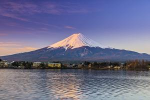 Mount Fuji at Sunrise as Seen from Lake Kawaguchi, Yamanashi Prefecture, Japan by Stefano Politi Markovina