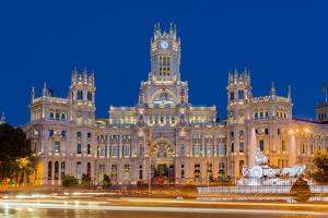 Night View of Cibeles Palace, Plaza De Cibeles, Madrid, Comunidad De Madrid, Spain by Stefano Politi Markovina