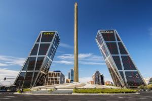 Plaza De Castilla with Puerta De Europa Twin Towers, Madrid, Comunidad De Madrid, Spain by Stefano Politi Markovina