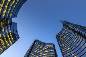 Porta Nuova Business District by Night, Milan, Lombardy, Italy by Stefano Politi Markovina