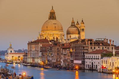 Santa Maria Della Salute Church and Grand Canal at Sunset, Venice, Veneto, Italy by Stefano Politi Markovina