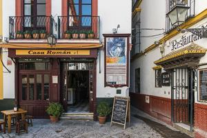 Tapas restaurant in the primary tourist neighborhood of Santa Cruz in Seville, Andalusia, Spain by Stefano Politi Markovina
