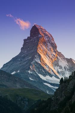 View at Sunset of Matterhorn, Zermatt, Wallis, Switzerland by Stefano Politi Markovina