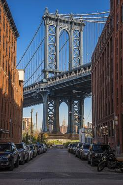 View Toward Manhattan Bridge with the Empire State Building in the Background, Brooklyn, New York by Stefano Politi Markovina