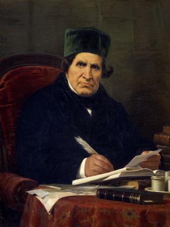 Portrait of Giovan Battista Niccolini, Italian Playwright and Patriot