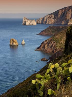 Italy, Sardinia, Nebida, Coastline, Sea, Dusk, Europe, South Island, West Coast, Scenery by Steffen Beuthan