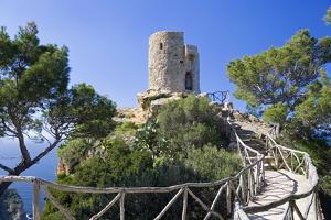 Spain, Balearic Islands, Island Majorca, Mirador, Watchtower Torre Del Verger by Steffen Beuthan