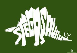 Stegosaurus Text Poster