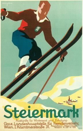 Steiermark Ski Poster