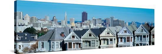 Steiner Street in San Francisco--Stretched Canvas Print