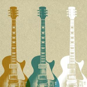 Guitars 3 by Stella Bradley
