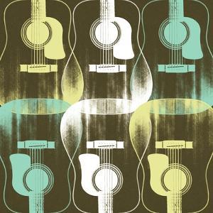 Guitars 7 by Stella Bradley