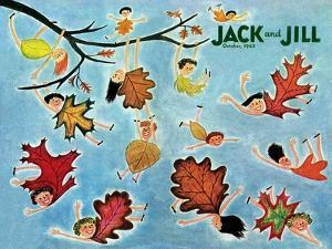 Leaf Kids - Jack and Jill, October 1945 by Stella May DaCosta