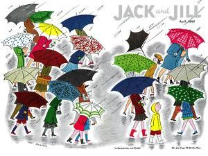 Umbrellas - Jack and Jill, April 1945 by Stella May DaCosta