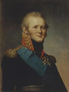 Portrait of Emperor Alexander I (1777-182), 1809 by Stepan Semyonovich Shchukin
