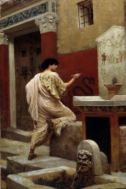 At a Wall, Pompeii by Stepan Vladislavovich Bakalowicz