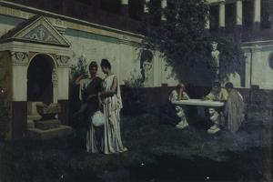 Sun's Last Rays in the Atrium, 1896 by Stepan Vladislavovich Bakalowicz