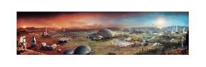 Depiction of Terraforming Transformation of Mars' Surface by Stephan Morrell