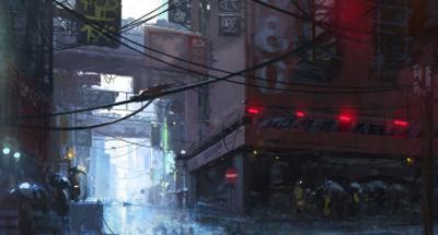 Japan Rain by Stephane Belin