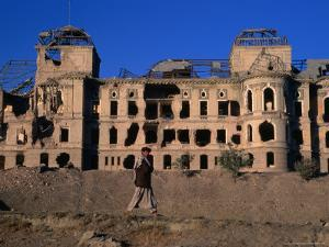 Damaged Darulaman Palace (Kings Palace), Home of King Zahir Shah, Kabul, Afghanistan by Stephane Victor