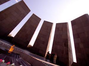 People at Genocide Memorial, Yerevan, Armenia by Stephane Victor