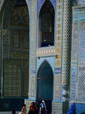 People Visiting Shrine of Hazrat Ali (Blue Mosque), Mazar-E Sharif, Afghanistan by Stephane Victor