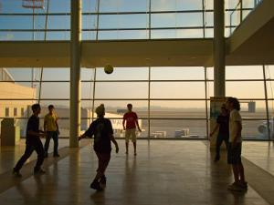 Playing Soccer at Ben Gurion Airport, Tel Aviv, Israel by Stephane Victor