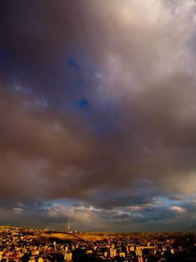Sunset Over City with Tv Tower in Distance, Yerevan, Armenia by Stephane Victor