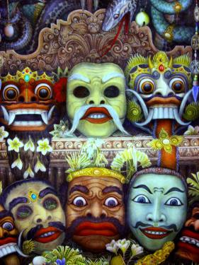 Traditional Painting at Museum Puri Lukisan, Bali, Indonesia by Stephane Victor
