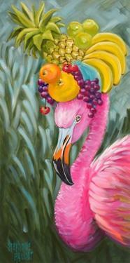 Flamingo with Fruit Baskets by Stephanie Aguilar