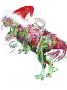 T Rex Christmas by Stephanie Analah
