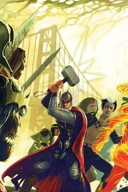 Exiled No.1 Cover: Thor, X-Man, and Loki by Stephanie Hans