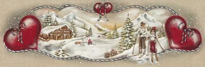 Skieurs et Chalet by Stephanie Holdert