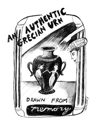 An Authentic Grecian Urn-drawn from memory - New Yorker Cartoon