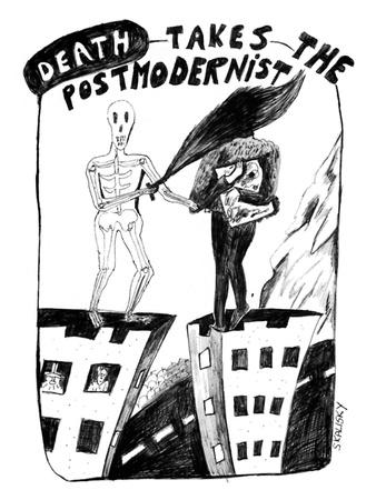 Death Takes The Postmodernist - New Yorker Cartoon