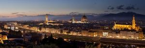 A Panoramic Shot of Florence at Dusk by Stephen Alvarez