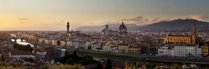 A Panoramic View of Florence at Twilight by Stephen Alvarez