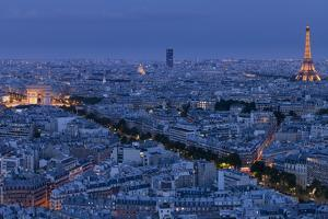 A Panoramic View of the City of Paris, France by Stephen Alvarez