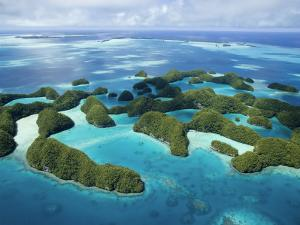 Aerial View of Palau's Rock Islands by Stephen Alvarez