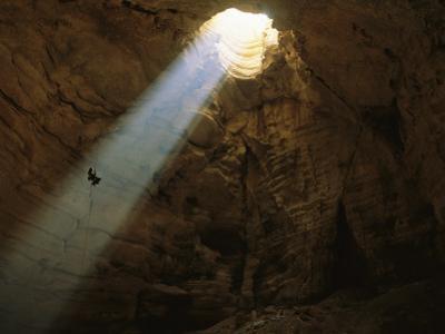 Ben Caddell Descends Majlis Al Jinn Cave by Stephen Alvarez
