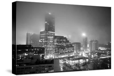 Cityscape of Buckhead, Atlanta in a Heavy Fog at Night by Stephen Alvarez
