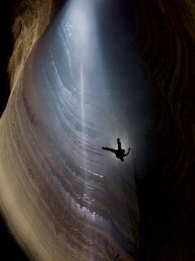 Ellison's cave has the longest single cave drop in the lower states. by Stephen Alvarez