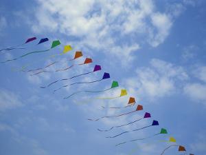 Kites Fly in a Rainbow of Colors at the Jockeys Ridge Kite Festival by Stephen Alvarez