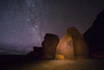 Petroglyphs Beneath a Starry Night by Stephen Alvarez