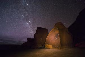 Petroglyphs Beneath a Starry Night by Stephen Alvarez