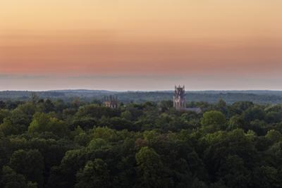 Shapard and Bresslen Towers Rise Over the Forest in Sewanee, Tenn by Stephen Alvarez