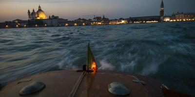 The Piazza San Marco from a Water Taxi on the Giudecca Canal by Stephen Alvarez