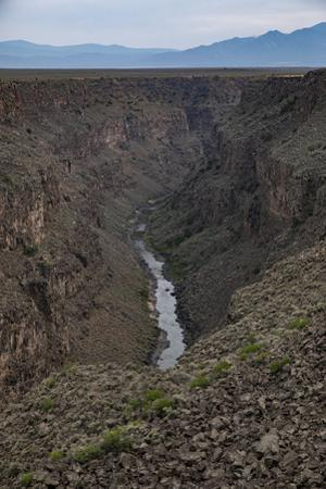 The Rio Grande as it flows through its deep canyon in Northern New Mexico. by Stephen Alvarez