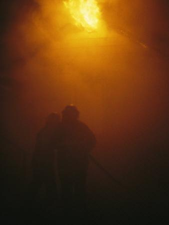 The Sewanee Volunteer Fire Department at Firefighting Practice